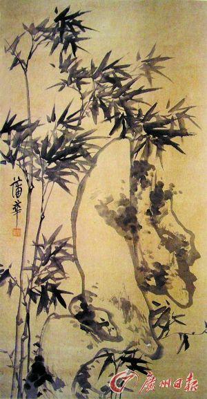 ②蒲華這幅畫作使用水生木技法