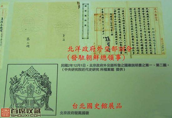 台北國史館所展出的北洋政府時代外交部訓令