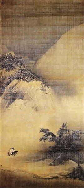 南宋梁楷《雪景山水圖》