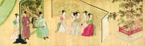 唐寅《临韩熙载夜宴图卷》(局部)中国重庆三峡博物馆藏