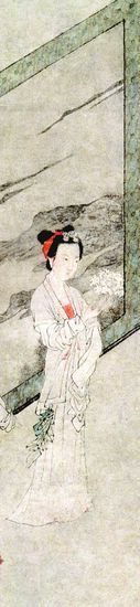 唐寅《李端端图》(局部),南京博物院藏