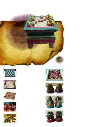 內蒙古博物院藏清代蒙古象棋。趙媛 攝