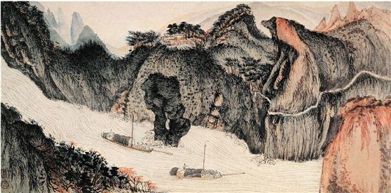 圖3 陸儼少冊頁真跡八開之一出版於1987年上海人民美術出版社編輯的《陸儼少畫集》