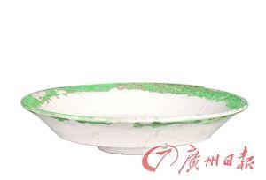 元霍州窯白釉折腰碗