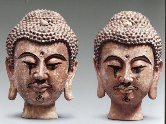 寧夏博物館藏西夏彩繪泥塑佛頭像