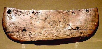 雙鳥朝陽(象牙雕刻公元前5000年河姆渡遺址出土)