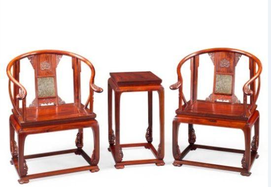 老挝红酸枝独板皇宫椅