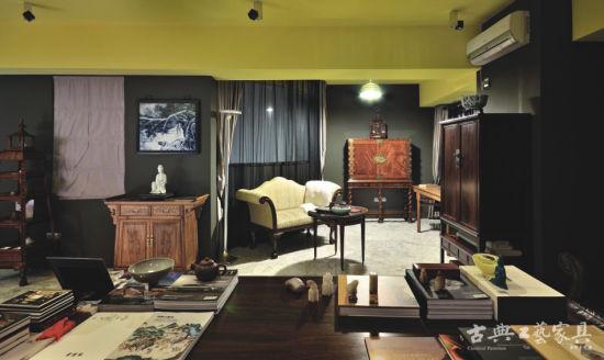红木家具搭配现代简约风格软装