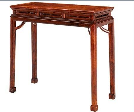 海南黄花梨高束腰条桌(伍炳亮作品)伍氏兴隆红木古典家具