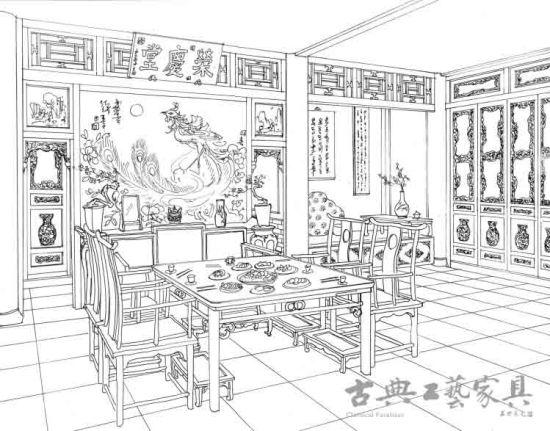 游宴   游宴不同于日常的家宴位置的固定,而是以娱乐为主,随境而安,可以看出封建贵族对于用餐情调的追求。   书中第一次关于游宴的详细描写见第三十八回,这是一次有趣的花园螃蟹宴,也是一次大观园中的室外聚餐,因为就餐者众多,所以分成三桌,丫环女佣们也被允许在游廊和桂花树下设席用餐。尽管在座次上仍有高低贵贱之分,但是在就餐氛围上已经轻松愉悦得多了。书中写道:一时进入榭中,只见栏杆外另放着两张竹案,一个上面设着杯箸酒具,一个上头设着茶筅茶盂各色茶具上面一桌,贾母、薛姨妈、宝钗、黛玉、宝玉;东边一桌,史湘