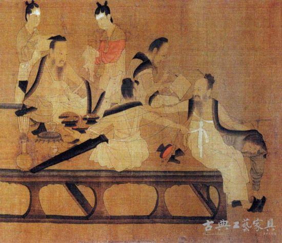 图3 校书图,北齐杨子华之宋摹本。