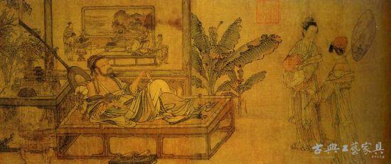 图4 《消夏图》,刘贯道,元。现藏美国纳尔逊博物馆。
