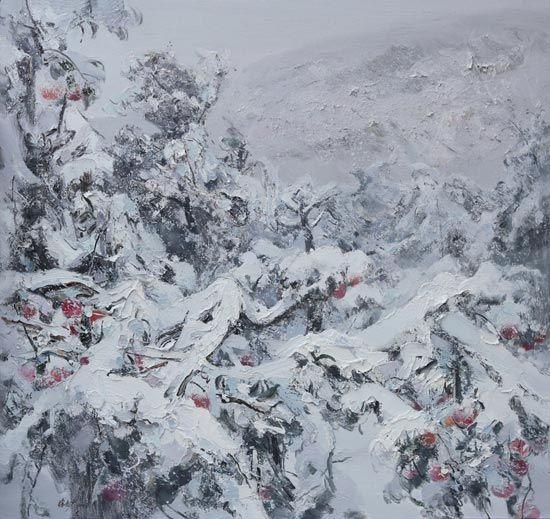 徐志广油画作品《苹果树》