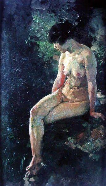 徐悲鸿油画作品《女人体》