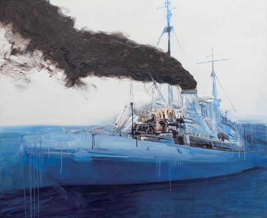 渔船 钢笔手绘