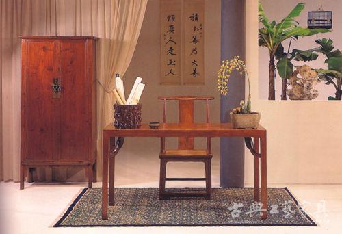 美國加州中國古典家具博物館內陳設的古典家具。 (圖片提供:閱古堂)