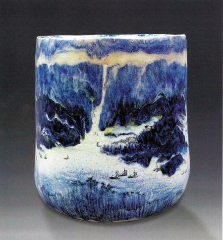 陶藝花瓶《晨航》