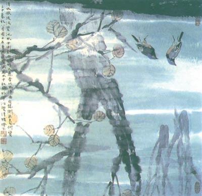 □贾宝珉   一、构图概说   花鸟画的构图是花鸟画创作的重