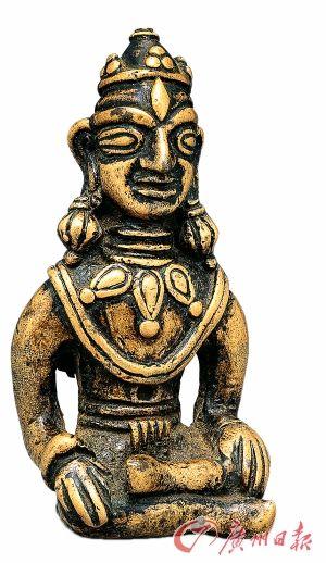 菩薩七至八世紀高5.2cm   西藏黃琍瑪