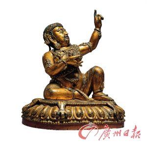 毘盧巴明永樂高29.2cm   宮廷銅鎏金、漆金