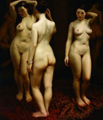 《三人体》 120cm×140cm2007年