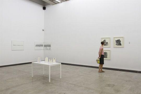 """2011年07月16日,""""含纸养心""""展览现场"""