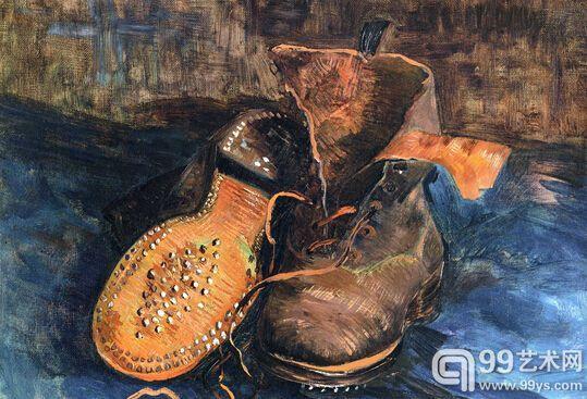 哲学家在艺术的评价上有过的最大丑闻,大概要算海德格尔对梵高《鞋》的那段著名评价,海德格尔犯了一个著名又不著名的低级错误。梅耶夏皮罗不确定海氏到底评论的是哪一幅画,因为有三幅符合海氏的描述,于是他去信询问,而最终在回信中被海氏确定的描述对象,那双鞋梵高只在城市里穿过。   但这个理论史事件却没有得到什么重视。在理论教育中,虽然有着明确的对象,但是由于生成出了艺术是真理的自行介入这一论断,论述被当做分析命题接受了,分析命题,即没有任何经验内容。而如今,当我和海德格尔的粉丝们提到这个低级错误时,