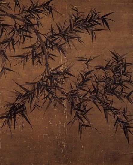 台北故宫博物院藏北宋文同《墨竹图》