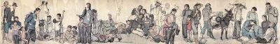 流民圖(紙本水墨設色) 局部1943年蔣兆和中國美術館藏