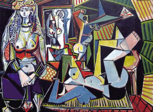 刚刚天价拍出的毕加索作品▲抄袭照片的油画作品早先摄影高清图片