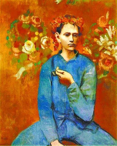 毕加索《抽烟斗的男孩》