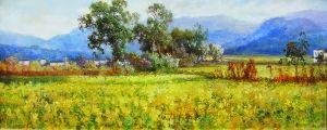 熊斌油画《故乡的春天》。