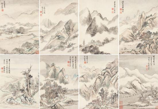 清代王翚《拟古山水》