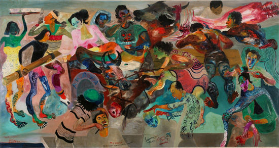 印尼画家古拿温《甜酒》