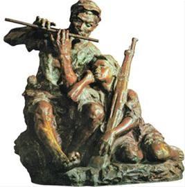 铜雕《艰苦岁月》