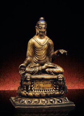 7至8世纪 斯瓦特 青铜嵌银释迦牟尼 690万元 2011年春拍