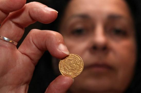 古埃及金币。以色列文物局