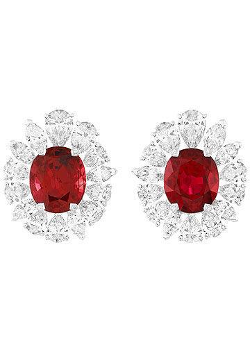 梵克雅宝Vermillon红宝石耳环