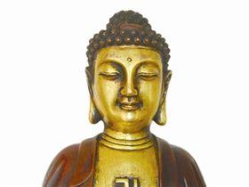 明宣德铜鎏金释迦牟尼佛 高32厘米,重4公斤
