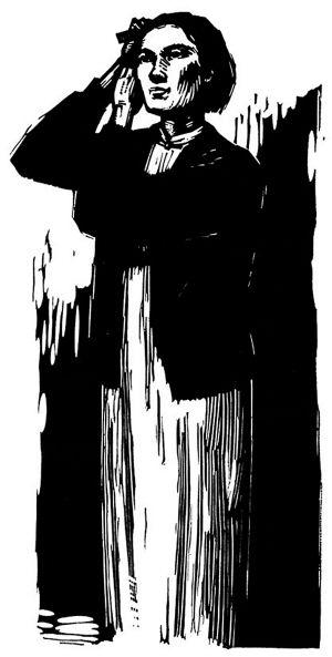 红岩江姐人物手绘图