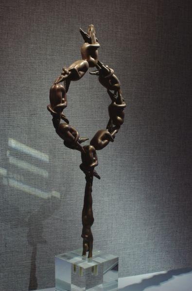 叶宗明雕塑作品《高台跳水》
