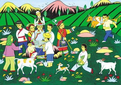儿童参赛动物画