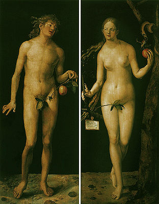 丢勒的《亚当和夏娃》