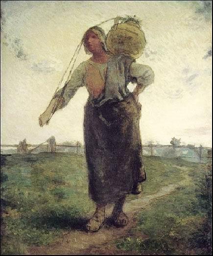 让・弗朗索瓦・米勒《诺曼底的挤牛奶女工》