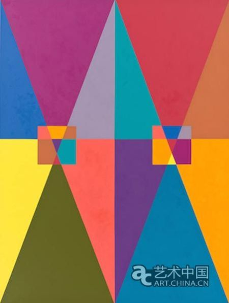 玛丽莲 勒纳的几何抽象绘画