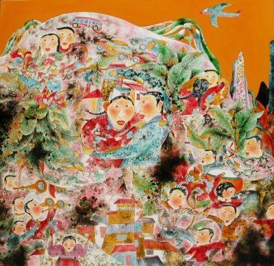 """首先衷心祝贺两位老师的漆画作品入选""""第十二届全国美展"""".图片"""