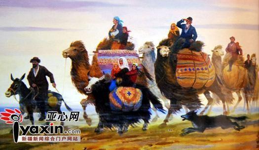 《大漠途中》 估价:60--80万元 亚心网记者 李远新 摄