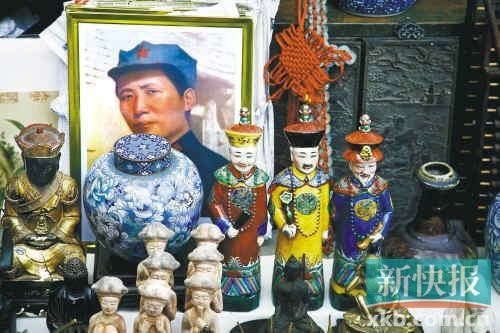 北京潘家园展出的非物质文化遗产精品。(CFP供图)