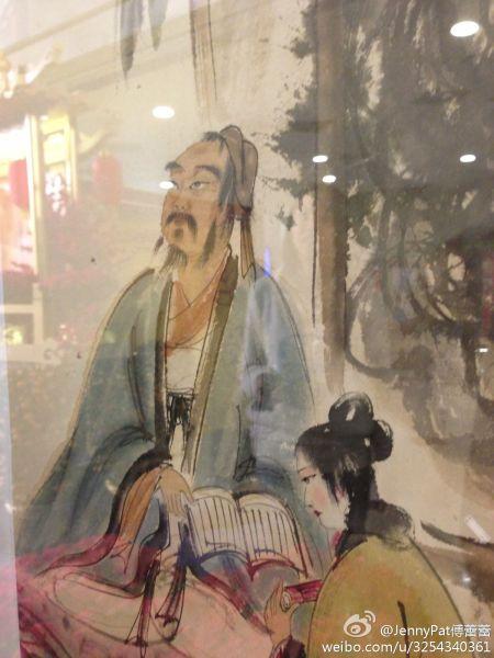 展览展出的傅抱石作品 来源 傅蕾蕾的微博