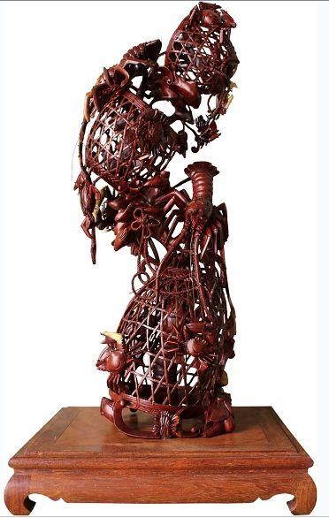 辜柳希-三層蝦蟹簍